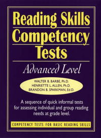 Reading Skills Competency Tests: Advanced Level by Walter B Barbe image
