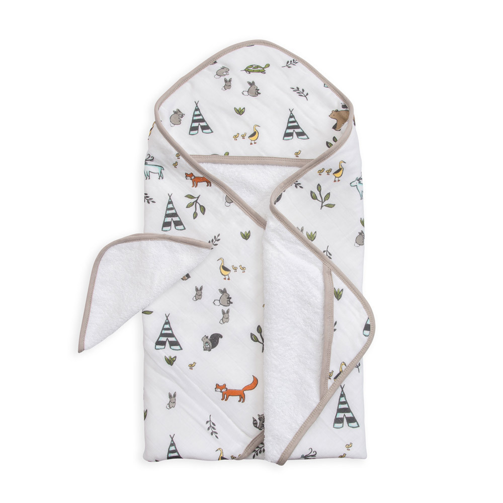 Little Unicorn - Hooded Towel & Wash Cloth - Forest Friends image
