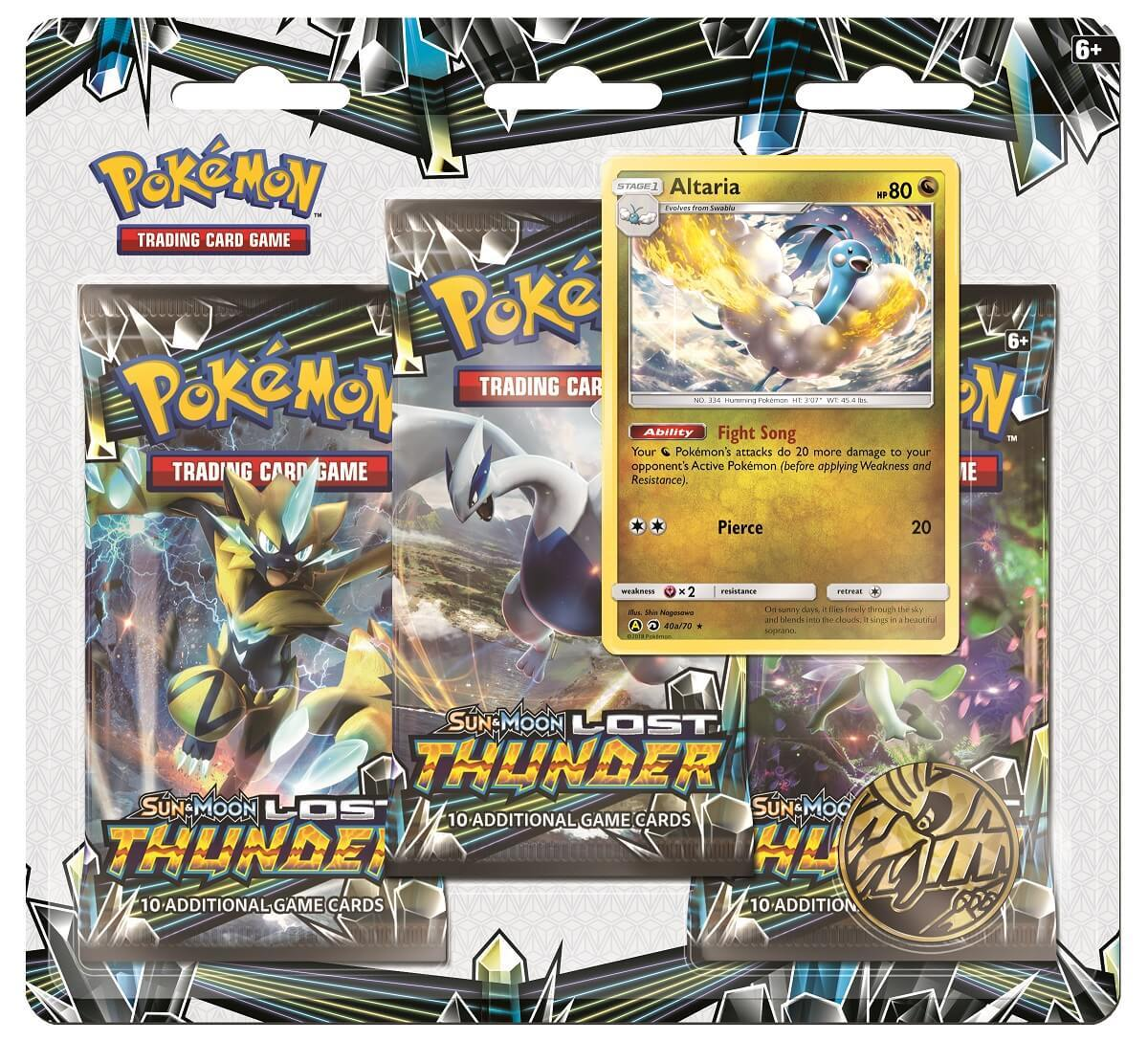 Pokemon TCG: Lost Thunder - 3-Pack Blister Set (Altaria)