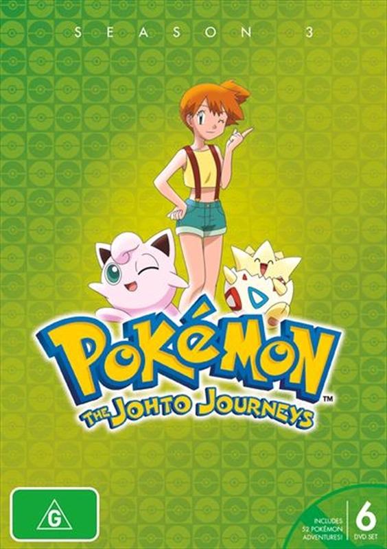 Pokémon® Johto Journeys - Season 3 on DVD