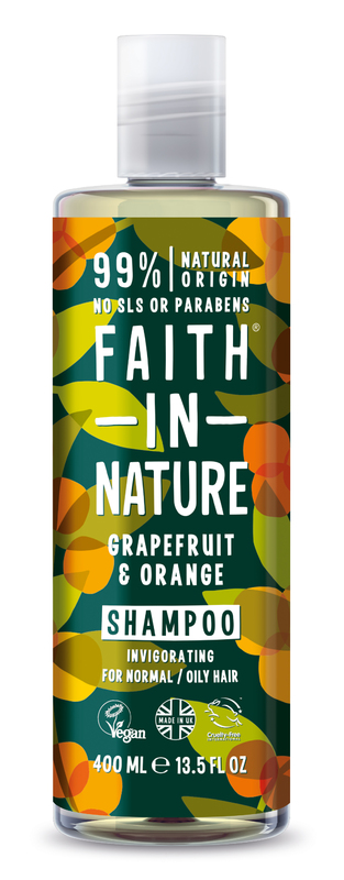 Faith In Nature: Grapefruit + Orange Shampoo for Normal/Oily Hair (400ml)
