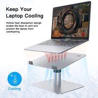 Adjustable Laptop Stand For Desk - Aluminium Silver