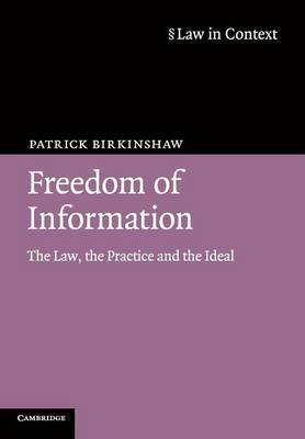 Freedom of Information by Patrick Birkinshaw image