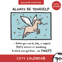 Edward Monkton: Unicorn 2019 Wall Calendar image