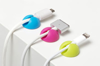 Bluelounge CableDrop Mini Cable Clips - Bright