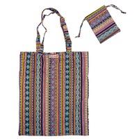 Vintage Fabric Foldable Shopping Bag