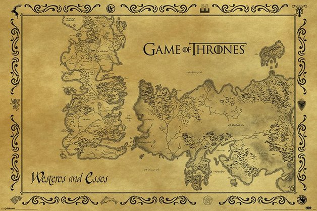 Game of Thrones Maxi Poster - Map (229)