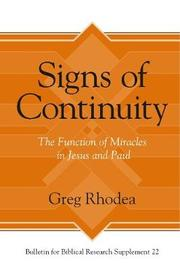 Signs of Continuity by Greg Rhodea