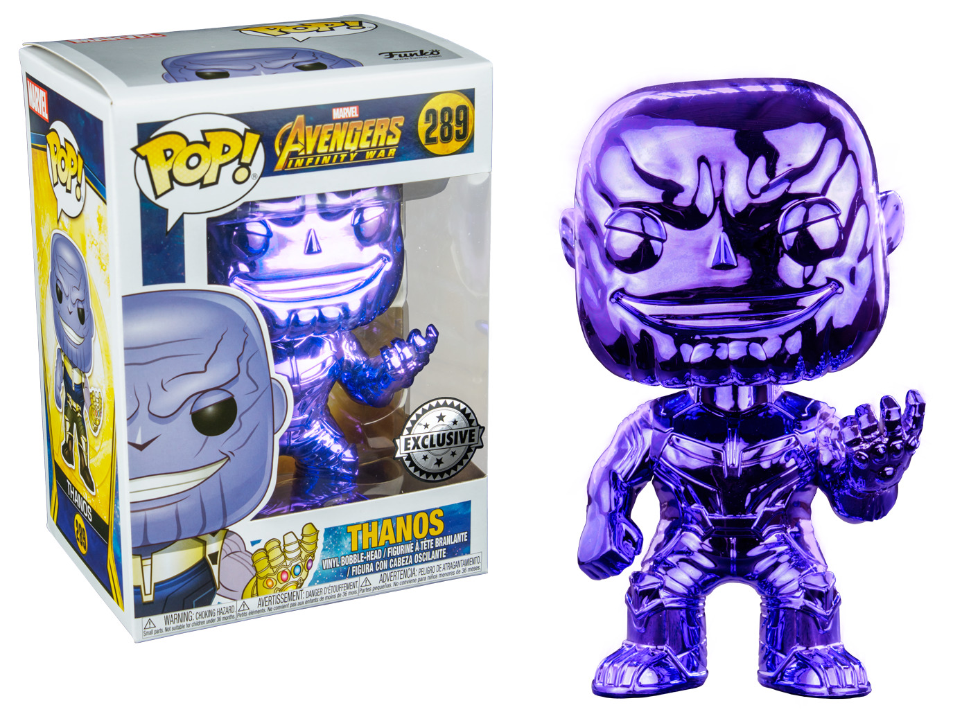 Avengers: Infinity War - Thanos (Dark Purple Chrome) Pop! Vinyl Figure image