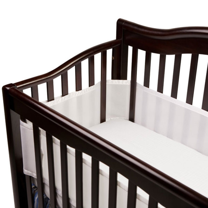 BreathableBaby Breathable Mesh Cot Liner (White) image