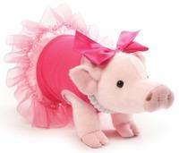Prissy Pig: Everyday Signature Plush - Pink Dress