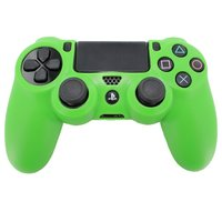 Pro Soft Silicone Protective Cover with Ribbed Handle Grip - Green for PS4