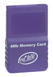 Tru Blu 4MB Memory Card (Purple) for GameCube