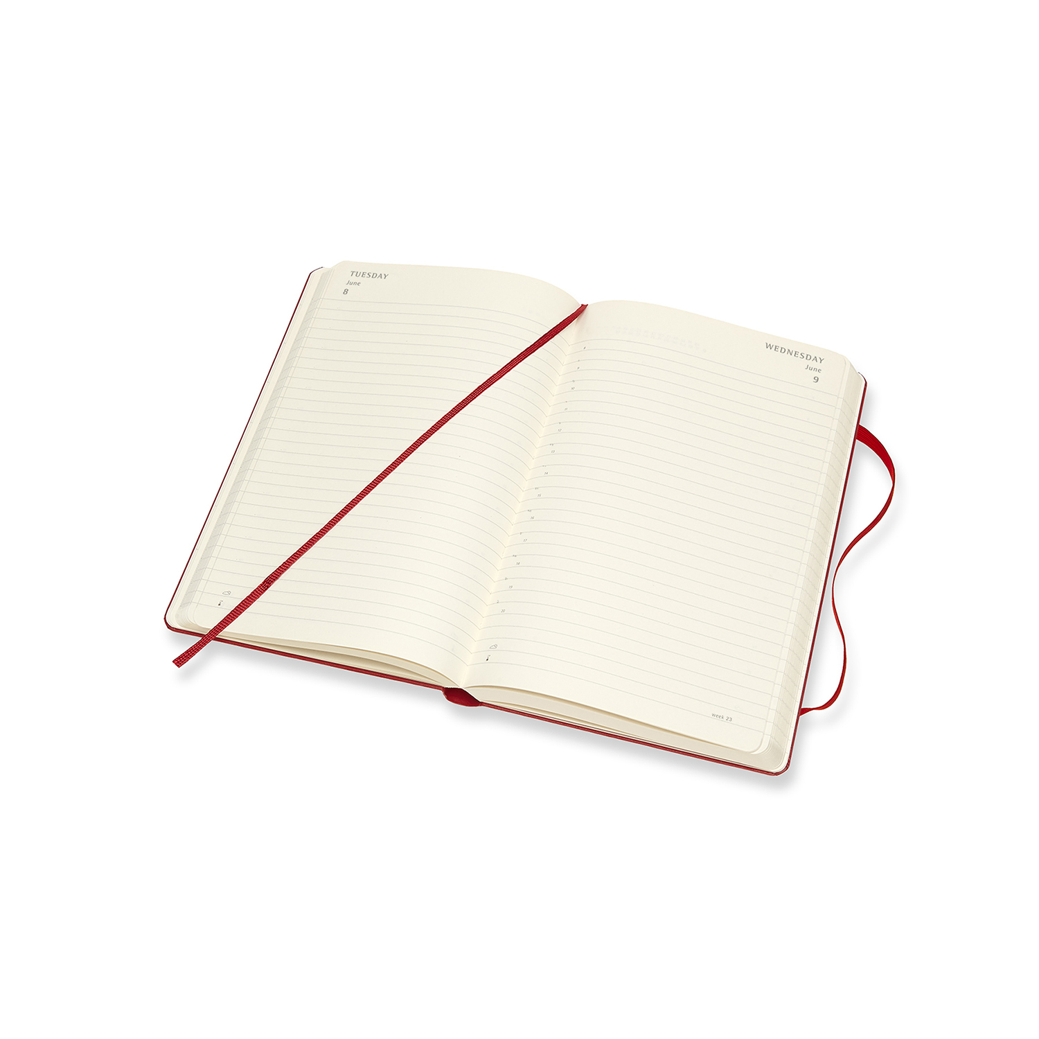 Buy Moleskine 2021 Diary Large Hard Cover 12 Month Daily Scarlet Red At Mighty Ape Nz