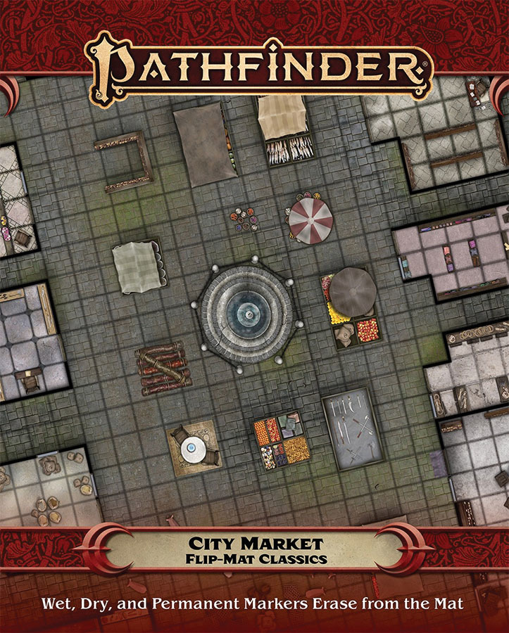Pathfinder RPG: Flip-Mat Classics - City Market | at Mighty Ape NZ