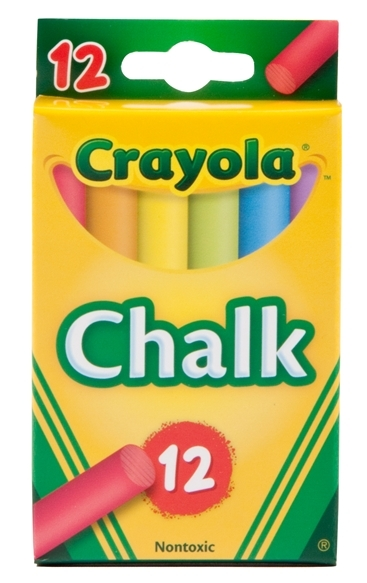 12 Coloured Chalk Sticks - Crayola