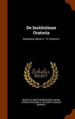 de Institutione Oratoria by Marcus Fabius Quintilianus image