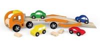 VIGA Wooden Toys - Car Carrier - Vehicle Set image
