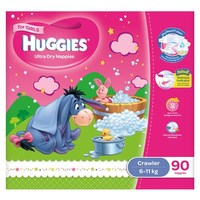 Huggies Nappies: Jumbo Pack - Crawler Girl 6-11kg (90)