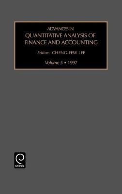 Advances in Quantitative Analysis of Finance and Accounting image