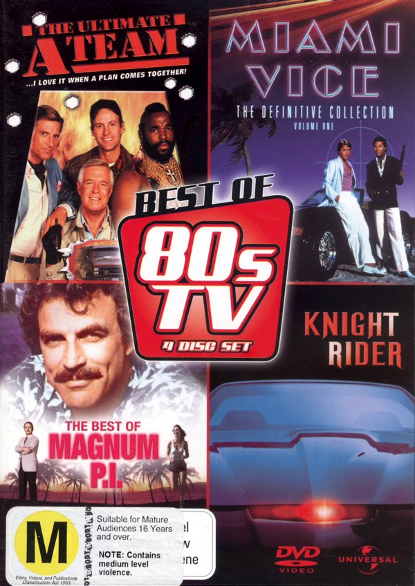 Best Of 80's TV, The (A-Team / Miami Vice / Knight Rider / Magnum P.I.) (4 Disc Set) on DVD image