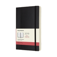 Moleskine: 2019 Large Soft Cover 12-Month Daily Planner - Black