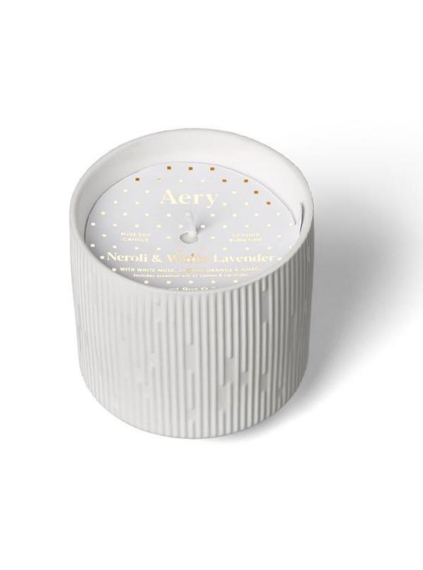 Aery: Clay Ceramic Plant Pot Candle - Neroli & White Lavender