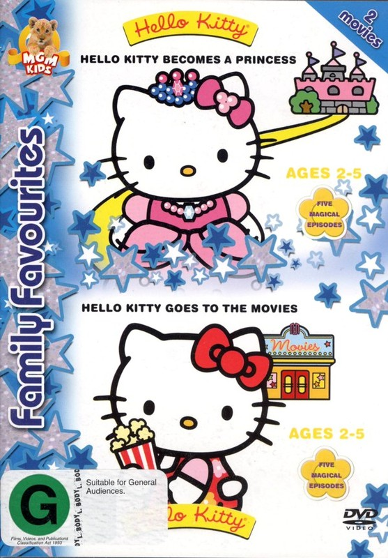 Hello Kitty Becomes A Princess / Hello Kitty Goes To The Movies on DVD