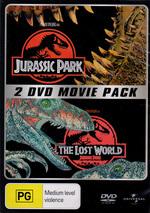 Jurassic Park / The Lost World - 2 DVD Movie Pack (2 Disc Set) on DVD