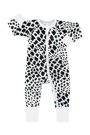 Bonds Zip Wondersuit Long Sleeve - Wild Rafiki Whiite (6-12 Months)