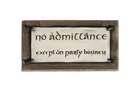 Lord of the Rings: No Admittance Magnet image