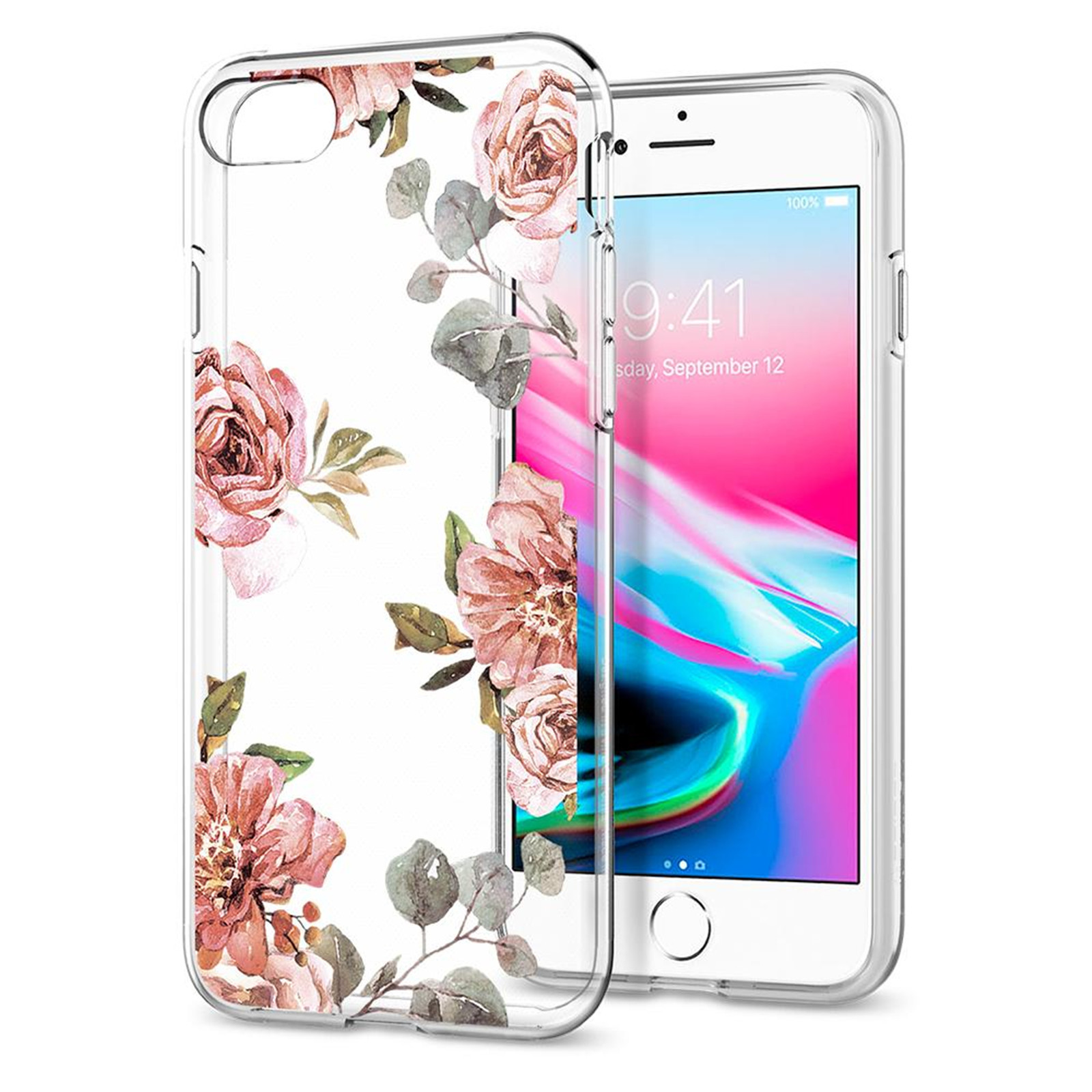 detailed look 79400 13a76 Spigen: iPhone 8/7 Liquid Crystal Case - Aquarelle Rose