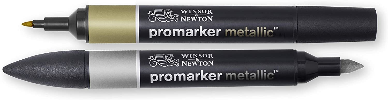 Winsor & Newton: Promarker Metallic - Gold & Silver image
