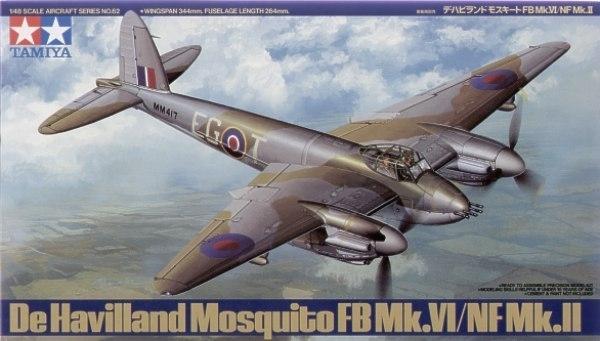 Tamiya British De Havilland Mosquito FB-Mk.VI 1/48 Aircraft Model Kit