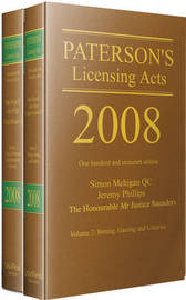Paterson's Licensing Acts 2008 image