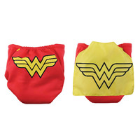 Bumkins DC Comics Snap in One Nappy with Cape - Wonder Woman
