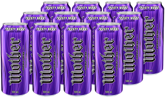 Mother Frosty Berry Energy Drink Can 500ml 24pk