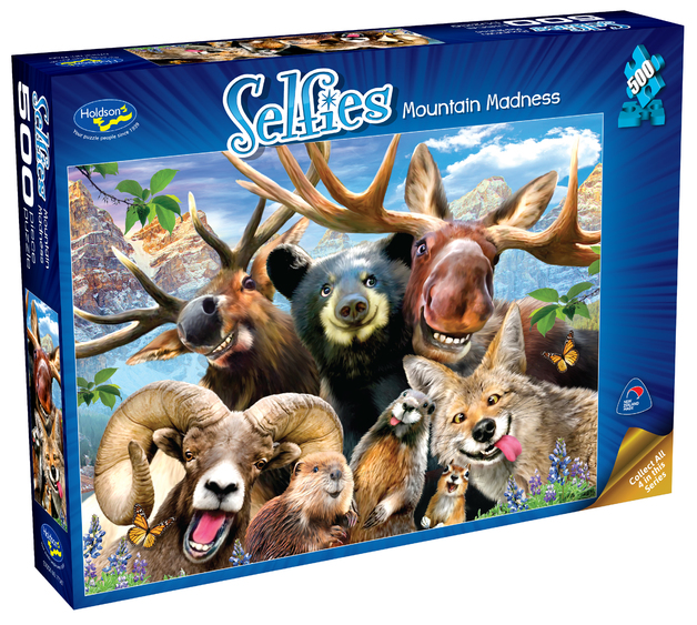 Holdson: 500 Piece Puzzle - Selfies S2 (Mountain Madness)