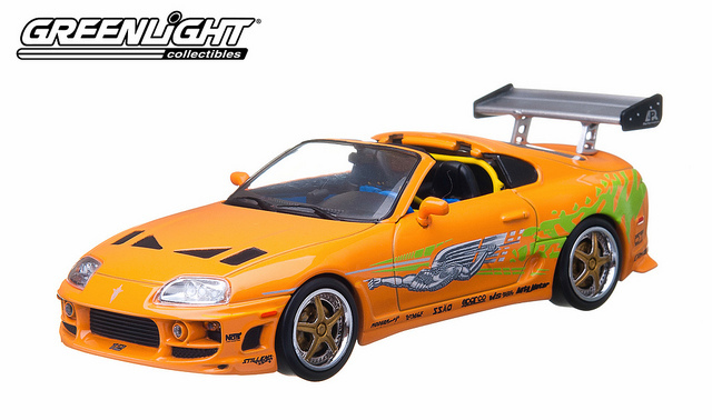 1/43: 1995 Toyota Supra MkIV - The Fast and the Furious - Diecast Model image