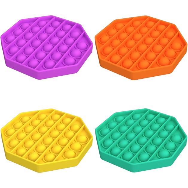 Popit: Fidget Toy - Octagon (Assorted Colours)