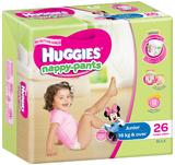 Huggies Nappy Pants Bulk - Junior Girl 16kgs + (26)