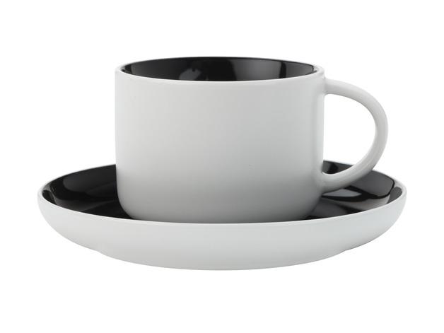 Maxwell & Williams - Tint Tea Cup & Saucer Black (250ml)