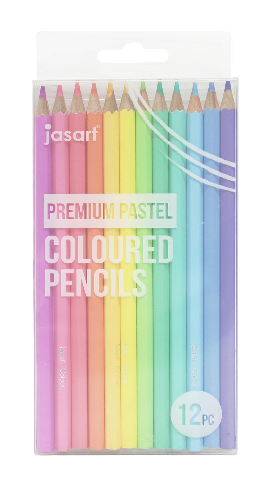 Jasart: Premium Pastel Pencil Set - 12 Pack image