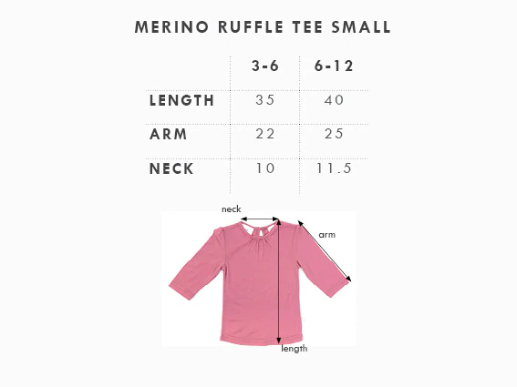 Babu: Merino Ruffle Long Sleeve T-Shirt - Grey (3-6m) image