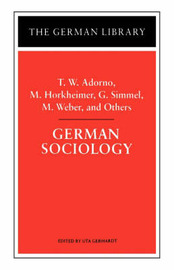 German Sociology by Theodor W Adorno image