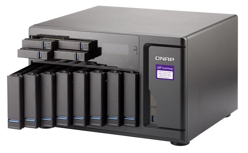QNAP TVS-1282-I5-16G NAS,8+4+2 X M.2 SLOT(DISKLESS),16GB,I5-6500,USB,GbE(4),HDMI,TWR, 2YR image