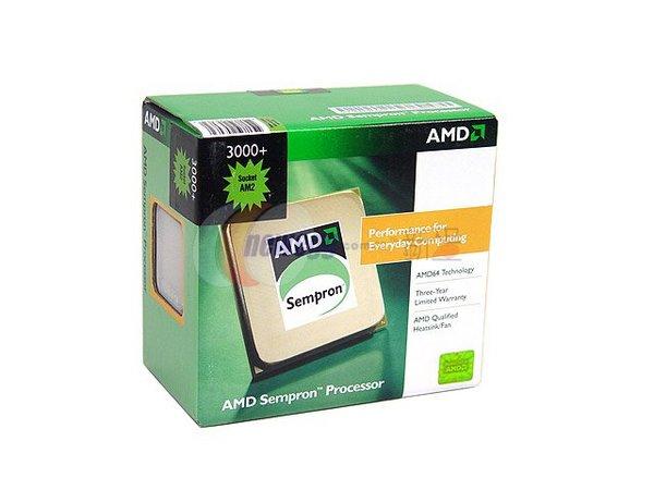 AMD 35W Sempron EE 3000+ 256KB 64Bit SKT AM2  1600MHZ Hyper Transport image