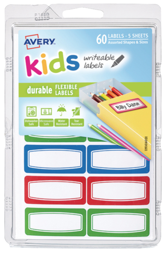 Avery: Durable Kids Labels - (44 x 19mm)