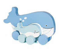 Jack Rabbit Creations: Mummy & Baby Push Toy - Whale