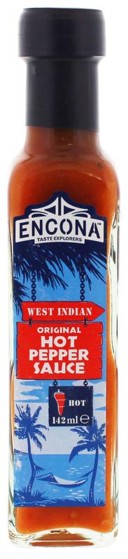 Encona West Indian Original Hot Pepper Sauce (142ml)